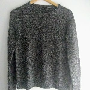 Theory Heathered Gray Wool Crewneck Sweater